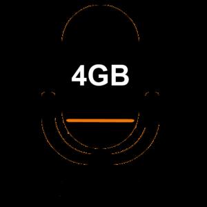 Встроенная память 4GB