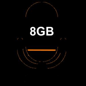 Встроенная память 8GB